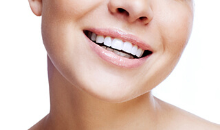 Marlton cosmetic dentist closeup of woman smiling